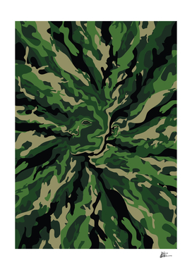 Face The Camouflage - Green