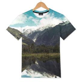 (Franz Josef Glacier) Where the snow melts
