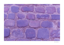 Texture Ancient Cobblestone Roadway Close-up Violet