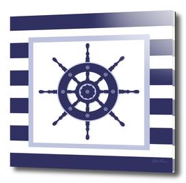 AFE Nautical Navy Helm Wheel