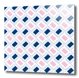 AFE Pink and Blue Rectangle Pattern