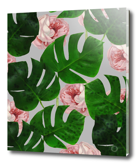 Monstera & Rose Pattern