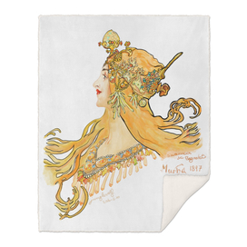 Mucha 1897 style savonnerie (poster 2s)