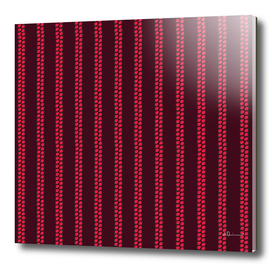 Strawberry Stripes Pattern - StripesV/BURGUNDY