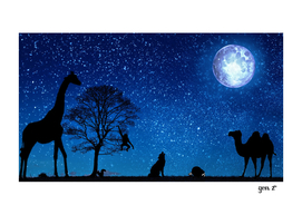 Animals under the moon by GEN Z