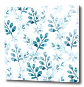 Watercolor Floral Pattern (Winter Version)