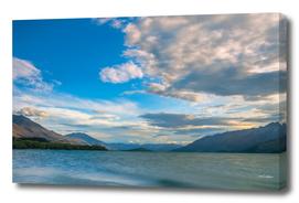 Golden hour on Lake Wakatipu at Glenorchy, NZ
