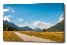 Panoramic view from the remote Kinloch-Glenorchy Road