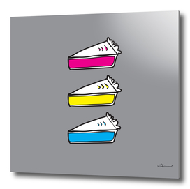 3 Pies - CMYK/Gray (Curioos Edition)