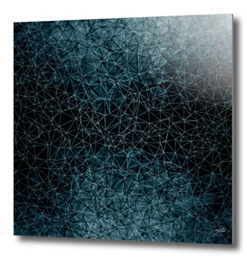 Polygons blue and white