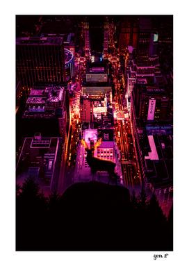 Deer overlooking the city by GEN Z