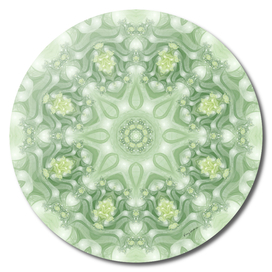 Spring Mandala 02 in Green, Yellow and White