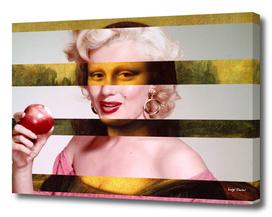 Leonardo's Gioconda + Marylin Monroe
