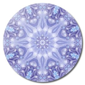 Light Blue and Lavender Mandala
