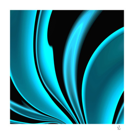 Abstract Fractal Colorways 02 Pacific Blue