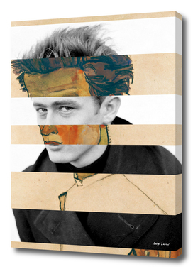 Schiele's Self Portrait with Striped Shirt & James Dean