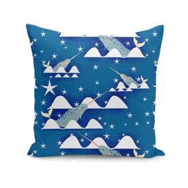Sea unicorn - Narwhal blue