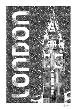 Graphic Art LONDON Big Ben