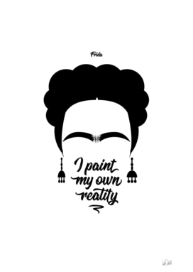 Frida Kahlo Portrait and Quote