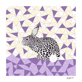 Cute Purple Pastel Rabbit Leopard Pattern Design