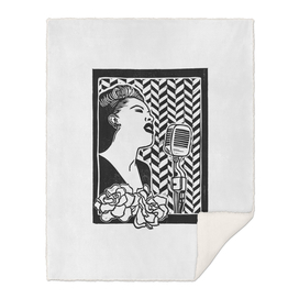Lady Day (Billie Holiday block print blk)