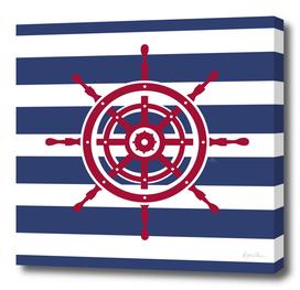 AFE Nautical Red Helm Wheel