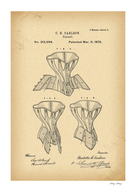 1879 Patent Corset history fashion invention
