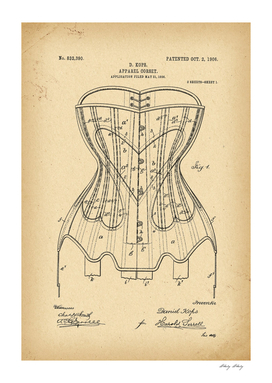 1906 Patent Corset history fashion invention