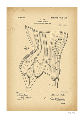 1906 Patent Corset history fashion innovation