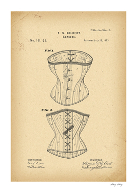 1873 Patent Corset history fashion innovation