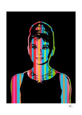 Audrey Hepburn | Dark | Pop Art