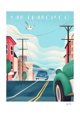 Art Deco San Francisco Car Chase