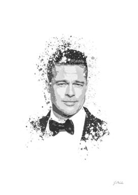 Brad Pitt splatter painting