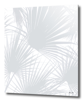 Pale Grey Tropical Leaves