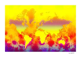 Glowing World Map