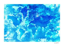 Aqua World Map