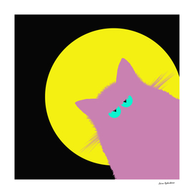 Full Moon Lilac Cat