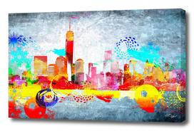 New York City Skyline Grunge