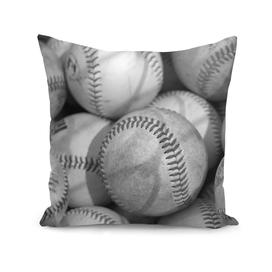 Baseballs in Black and White