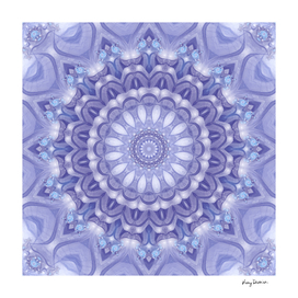 Light Blue, Lavender and White Mandala 02