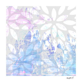 Abstract Splash Flowers Design