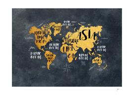 world map text