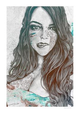 U-Turn: Rainbow (mandala tattooed woman, drawing portrait)