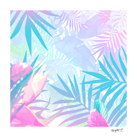Pastel Rainbow Tropical Paradise Design