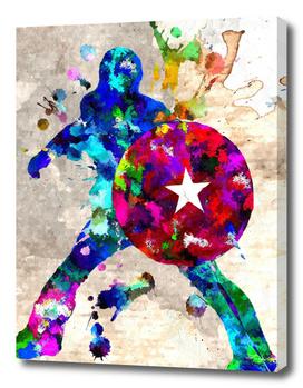 Captain America Grunge