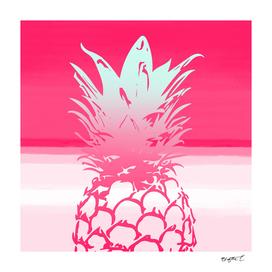 Pink Pineapple Tropical Beach Design