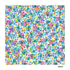 Pink beneath Square-Confetti