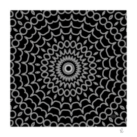 Mandala Fractal in Black and White