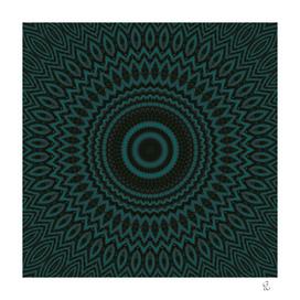 Mandala Fractal in Teal Study 04