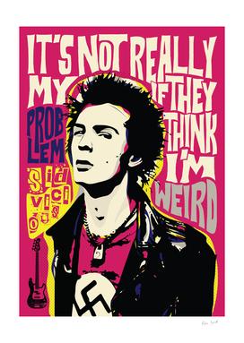Sid Vicious Pop Art Quote Punk Portrait